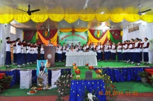 Lamp lighting and oath taking ceremony 2014