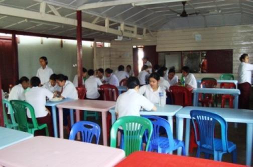 Hostel dining room of Shija Academy of Nursing Hostel