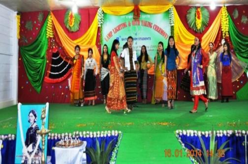 Fashion show presented by Shija Academy of Nursing students