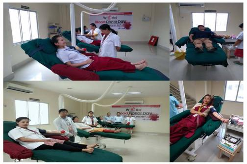 VOLUNTARY BLOOD DONATION CAMP on WORLD BLOOD DONOR DAY