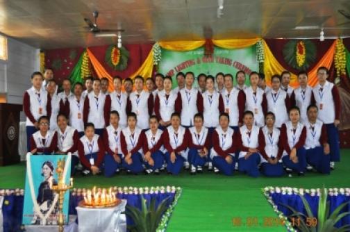 Group photo Shija Academy of Nursing 2014 batch students