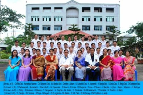 First batch students group photo with Shija Academy of Nursing staff